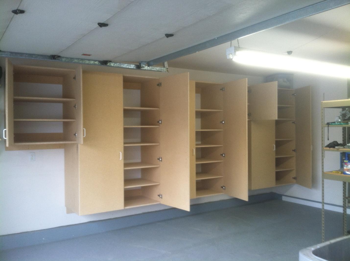 Unpainted Garage Cabinets Shelves